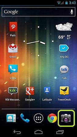 Camera ICS: Control Existent Camera App For Android