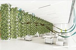 Giant Vertical Flower Pot Purifies Air