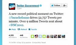 "Obama's DNC Speech Set ""Political Moments"" On Twitter"