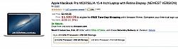 Upto $200 Price Drop On 13 & 15 -inch Retina MacBook Pro At Amazon