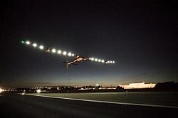 Solar Powered Plane Solar Impulse Finishes Final Leg Of Flight At New York City