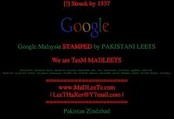 Team Madleets Hacks Google's Malaysian Site