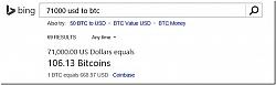 Bing Starts Offering Instant Bitcoin Converter