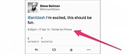 Twitter Raises A Storm Over Steve Ballmer Using An iPhone