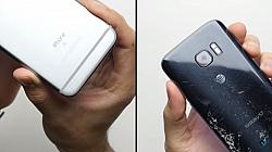 Samsung Galaxy S7 vs iPhone 6S Durability Drop Test [Video]