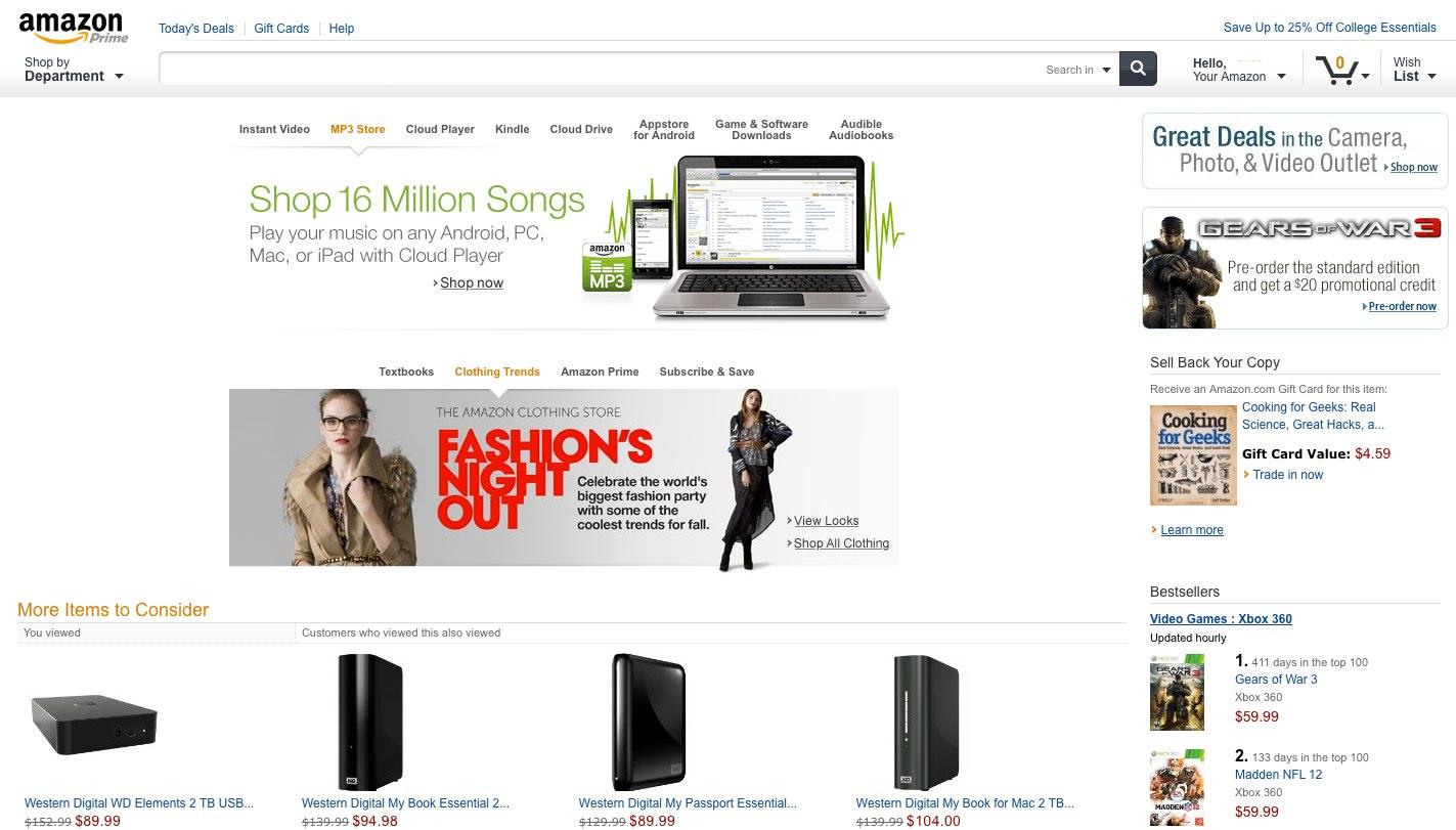 Amazon.com New Homepage