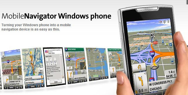 NAVIGON On-Board Navigation App For Windows Phone 7 ...