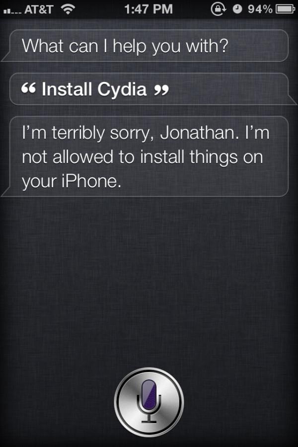 Siri install Cydia