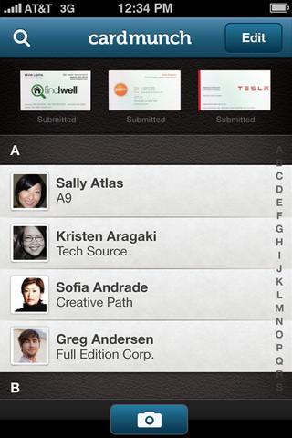 CardMunch Business Card Reader App For iOS by LinkedIn