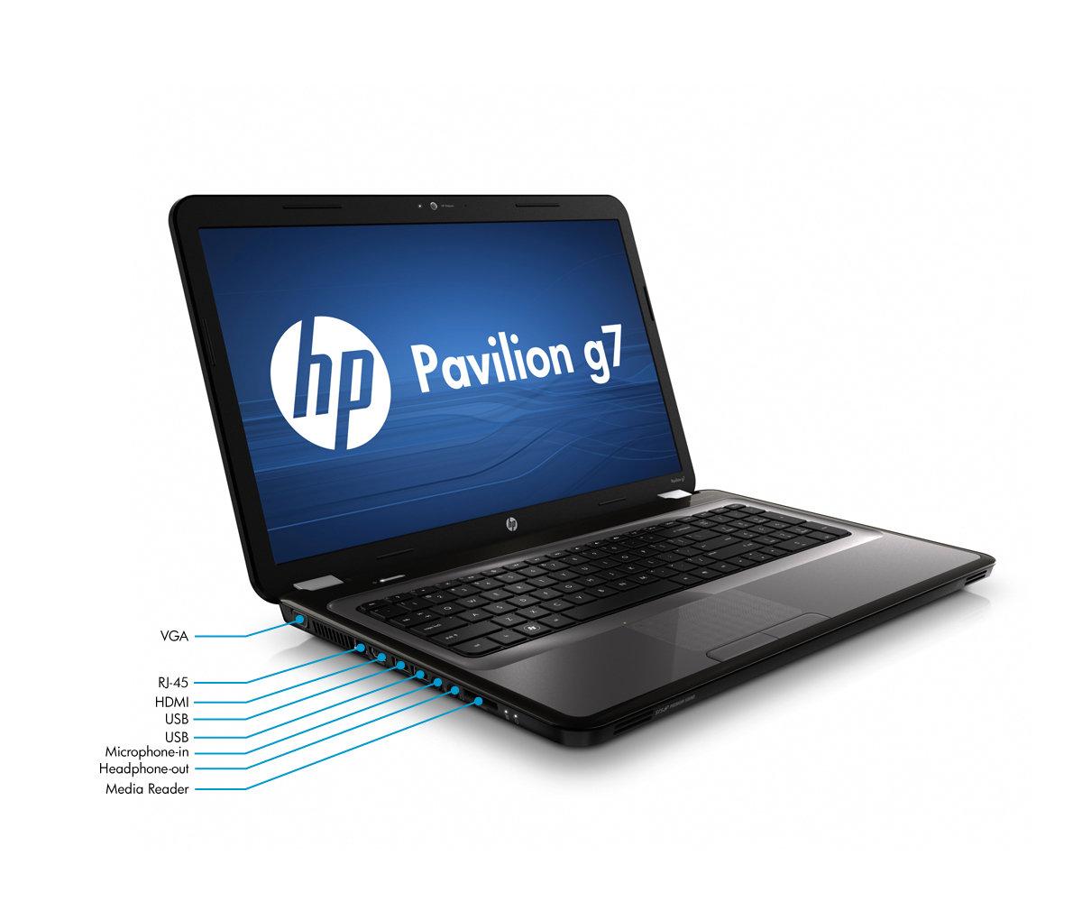 HP Pavilion g7-1272nr Notebook PC Left View