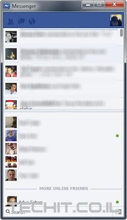 Windows 7 Based Facebook Messenger