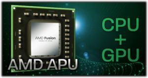 APU = CPU + GPU