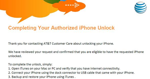 Unlock AT&T iPhone 4S