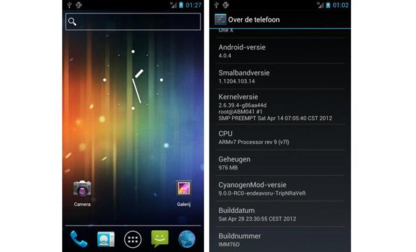 HTC One X Cyanogenmod 9