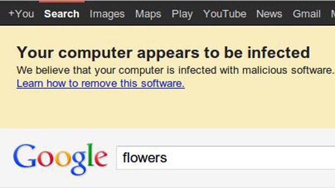 Google Concern About DNSChanger malware, Image Credit: Fncstatic