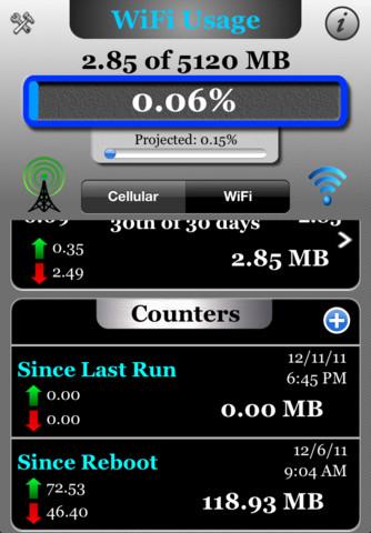 iphone data usage monitor app free