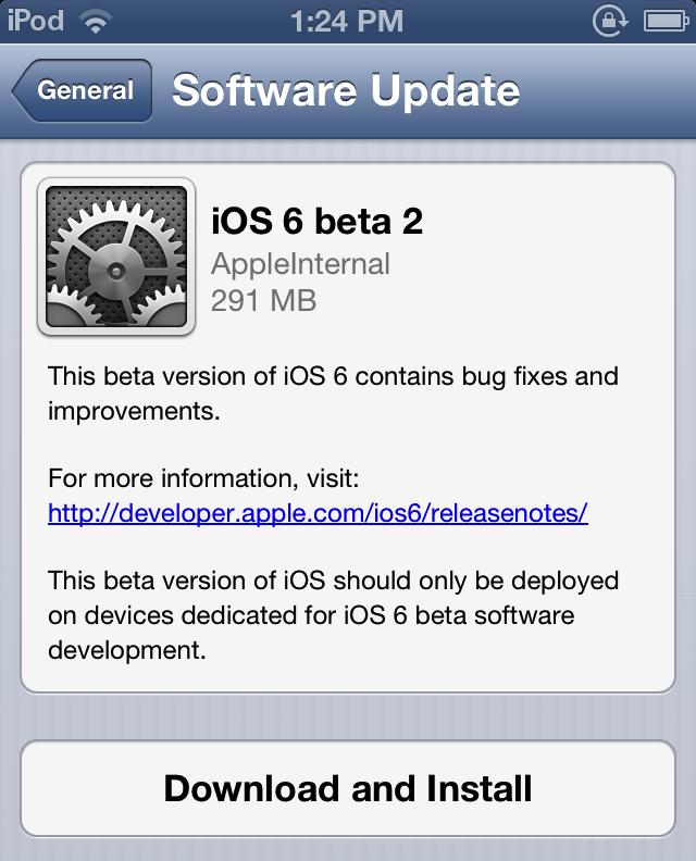 iOSA 6 Beta 2