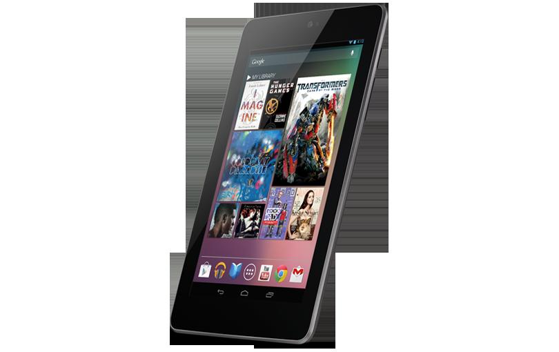 Google Nexus 7, Image Credit: Google