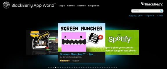 BlackBerry App World, Image credit: http://devblog.blackberry.com