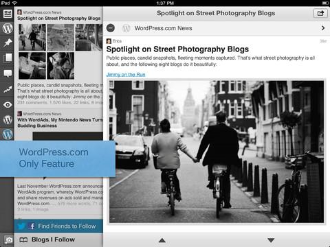 WordPress app for iOS