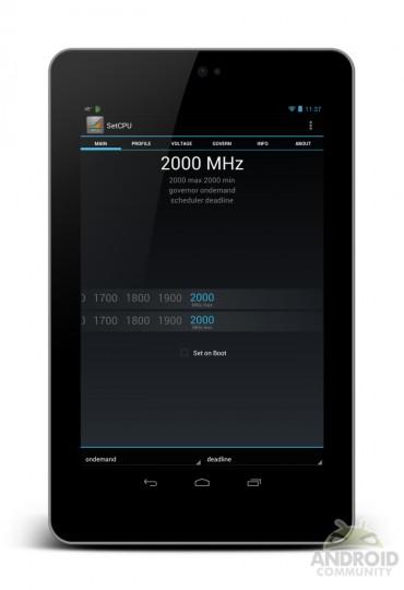 Overclocked Nexus 7