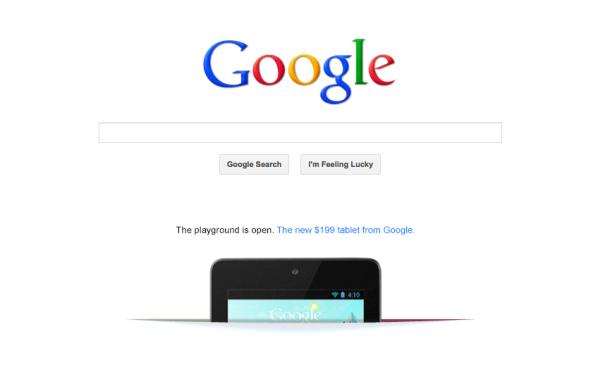Google Nexus 7 Ad, image credit: cnet.com