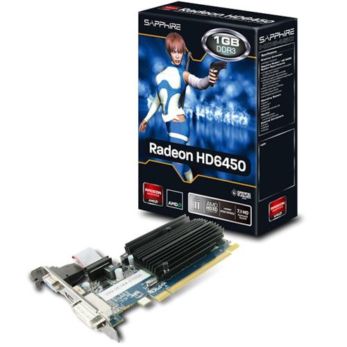 SAPPHIRE Radeon HD 6450 1GD3 TTJ