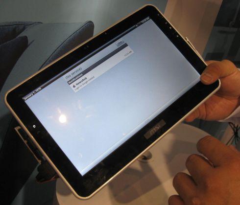 Nvidia Tegra 2 tablet Running Backbreaker
